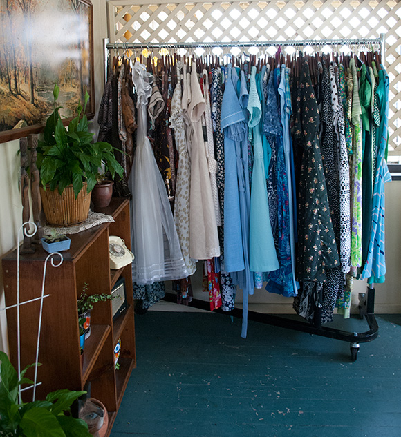 clothing rack at store