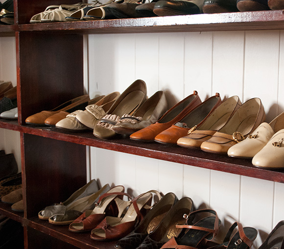 Rows and rows of vintage shoes