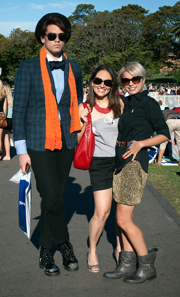 Group of three posing at Tropfest
