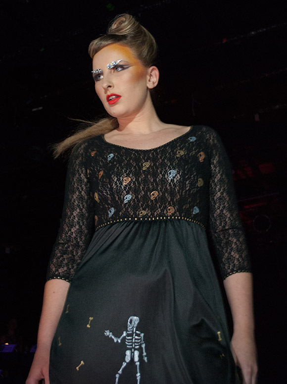 Shirley Fracture Couture on the runway