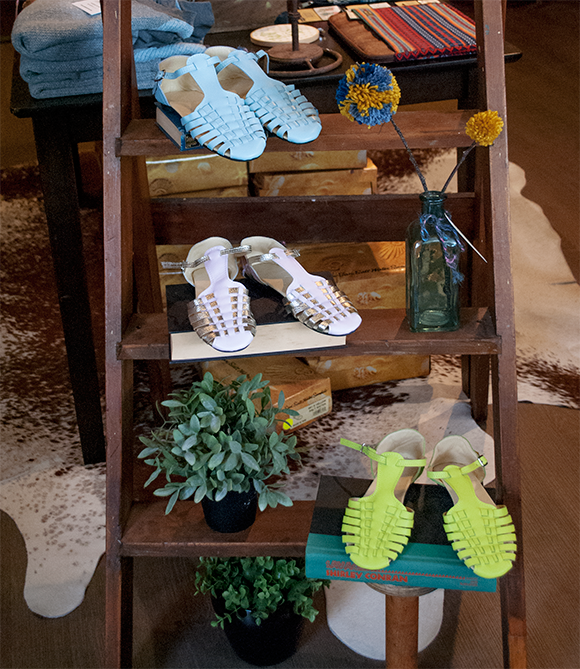 Adorable sandals at The Happy Cabin