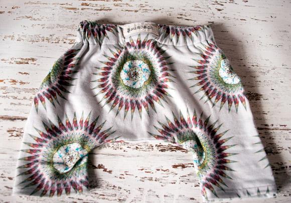 Baumbach designer printed baby pants