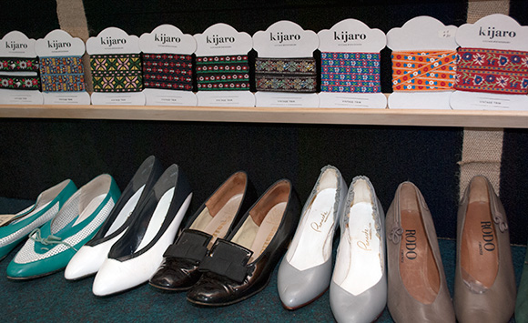 Vintage shoes and ribbon