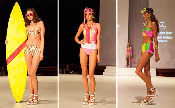 Molly and Polly swimwear emerging brisbane designers at mbff Brisbane