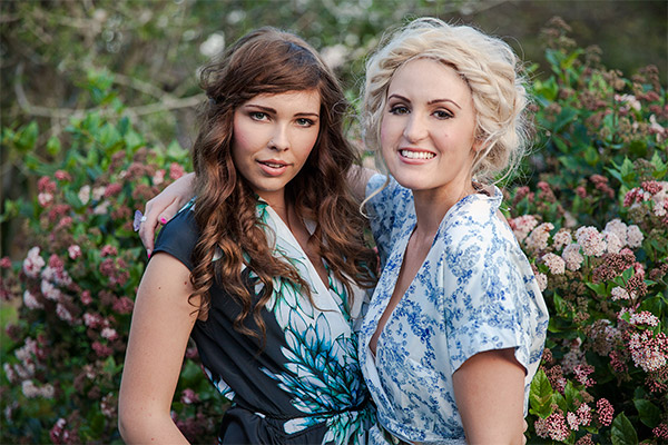 ashleigh from the blonde silhouette and jemma in our bohemian themed shoot in brisbane