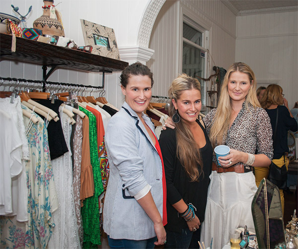 fashionable brisbane ladies at boutique launch party