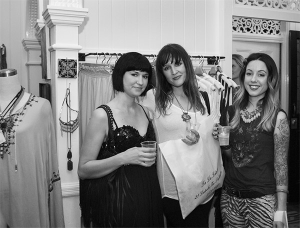 fashionable brisbane ladies at boutique launch party for late night shopping
