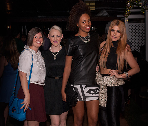 Brisbane fashion bloggers Aicha, Ashleigh and Yolanda and Jessica Tovey