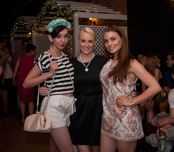Brisbane bloggers Claire of Fashion Sweetheart, Ashleigh of The Blonde Silhouette and Evelyn Curtis designer
