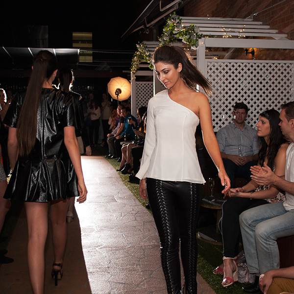 jessica tovey black leather pants at capulet bar fashion fridays