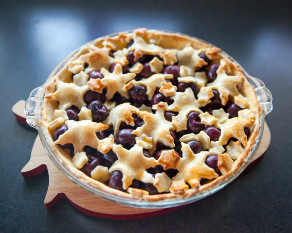 cooked christmas cherry pie