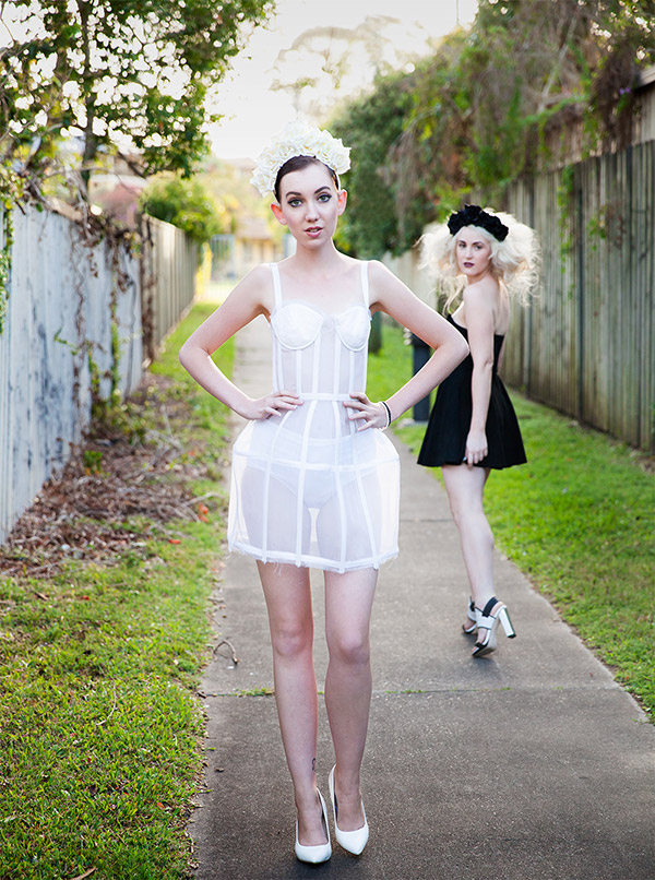 looking over her shoulder brisbane fashion editorial