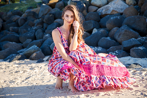 harriette hill vintage fabric maxi dress brisbane photographer