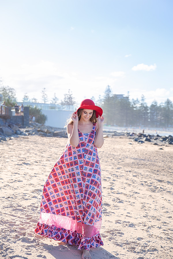 harriette hill vintage maxi dress clothing brisbane