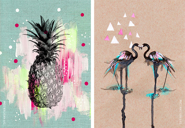 tiffany atkin artist flamingo and pineapple