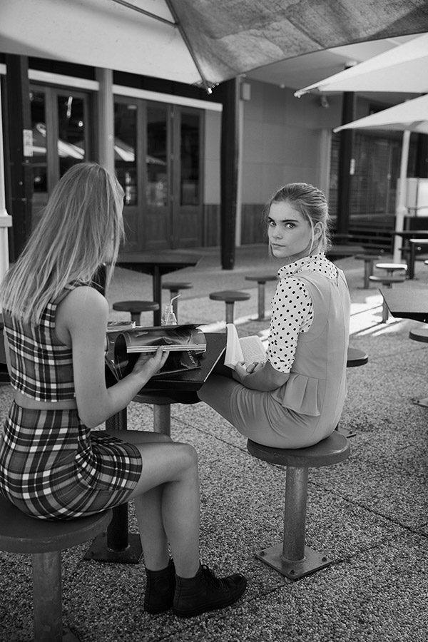 get a clue brisbane fashion editorial inspired by gossip girl lunchtime