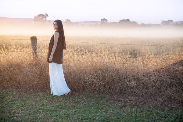 brisbane fashion photographer misty morning