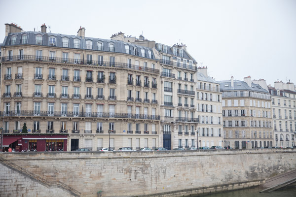 buildings along the sine river in paris